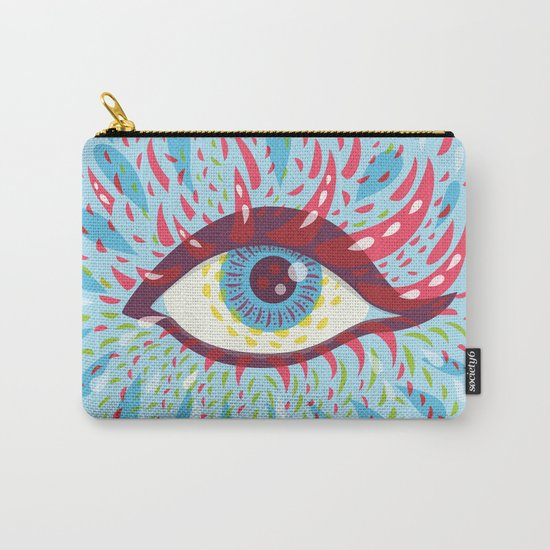 Weird Blue Psychedelic Eye Carry-All Pouch