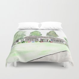 Merrick Rd, Custom watercolor Duvet Cover
