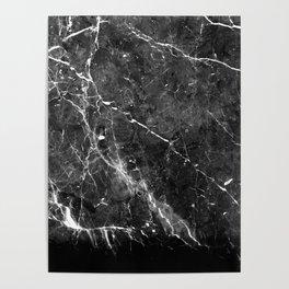 Black Gray Marble #1 #decor #art #society6 Poster