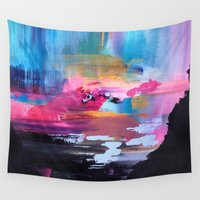 northern lights Wall Tapestries featuring Northern Lights by Mai Autumn