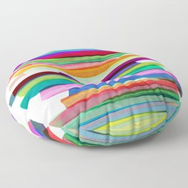 Colorful Stripes 1 Floor Pillow