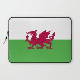 Wales flag emblem Laptop Sleeve