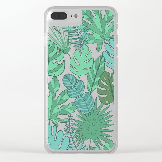 Tropical plantation Clear iPhone Case