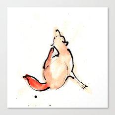 Scratchy Fox Canvas Print