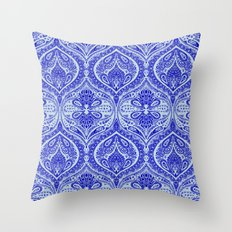 Simple Ogee Blue Throw Pillow