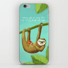 Nothing gets me going like my morning caffe latte iPhone Skin