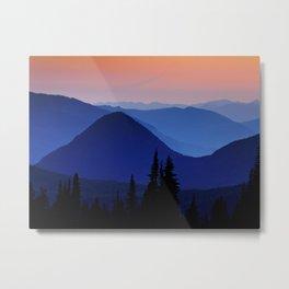 Cascades Sunset, Wa.   Metal Print