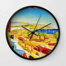Vintage Nice Italy Travel Wall Clock