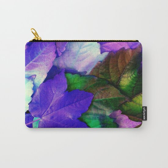 The Purple Leaves of Autumn Carry-All Pouch
