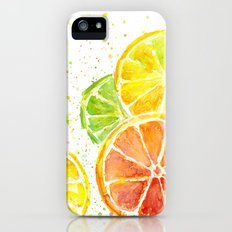 Fruit Watercolor Citrus iPhone SE Slim Case