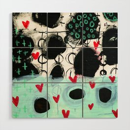 Falling Hearts Wood Wall Art