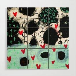 Falling Hearts Wood Wall Art