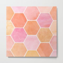 Desert Mood Hexagon Print Metal Print