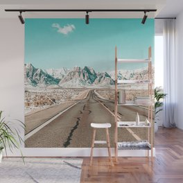 Vintage Desert Road // Winter Storm Red Rock Canyon Las Vegas Nature Scenery View Wall Mural
