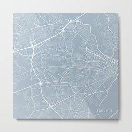 Augusta Map, USA - Slate Metal Print