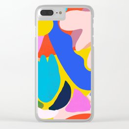 Unbridled Enthusiasm - Shapes and Layers no.38 Clear iPhone Case