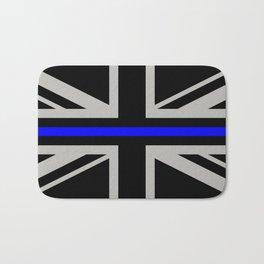 Police: British Flag & The Thin Blue Line Bath Mat