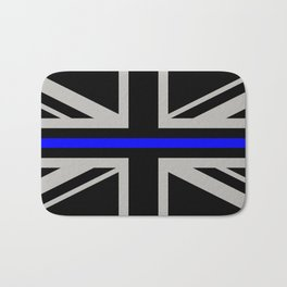 Police: British Flag & The Thin Blue Line Bath Mat