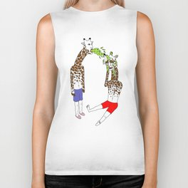 giraffe boyz Biker Tank
