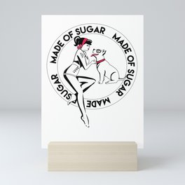 Made of Sugar Pinup & Pitbull Mini Art Print