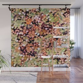 Micro Confetti Peach Lime Wall Mural