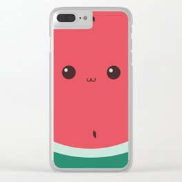 Watermelon Face Clear iPhone Case
