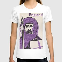 England and Saint George vintage style travel poster T-shirt