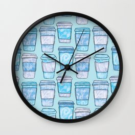Coffee Cups | Blues Palette Wall Clock