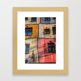 Hundertwasserhaus  Vienna Austria 2 building Framed Art Print