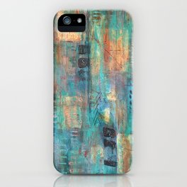 """PATINA"" Original Painting by Cyd Rust iPhone Case"