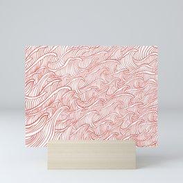 2021 the great wave 2 pattern  Mini Art Print