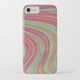OLEANDER trails of fuschia red grass green abstract iPhone Case
