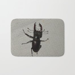 Large beetle stag beetle insects Bath Mat
