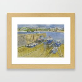 Port Erin Isle of Man watercolour print Framed Art Print