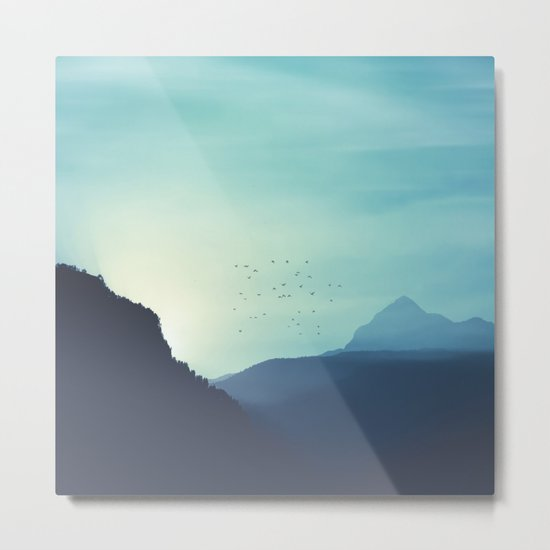 Sundancer - Alpine valley at sunrise Metal Print