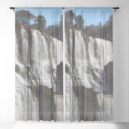 Iguazu Iguassu Waterfall Landscape Panorama Scenery, Brazil Argentina 4 Sheer Curtain