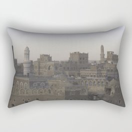 Sanaa, Yemen skyline circa 2009 Rectangular Pillow