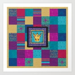 King of Kings Crowns Amanya Design Art Print