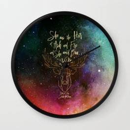 She was the heir of ash and fire and she would bow to no one. Aelin Wall Clock