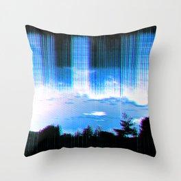 lo-fi storm Throw Pillow