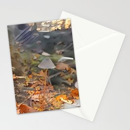 Painted Mycena in Forest Stationery Cards