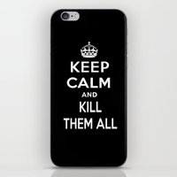 keep calm iPhone & iPod Skins featuring Keep Calm by Lunaramour