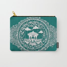 Seaside Bandstand Hand-Cut Papercut Carry-All Pouch