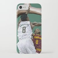 larry iPhone & iPod Cases featuring Larry Sanders by Jen Hynds