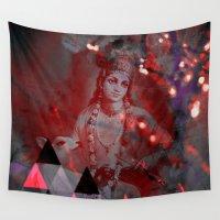 hindu Wall Tapestries featuring Krishna Reprise - The Hindu God by sarvesh