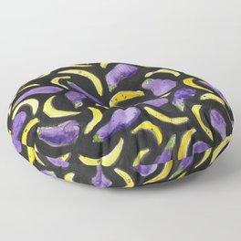 Eggplant & Bananas Floor Pillow