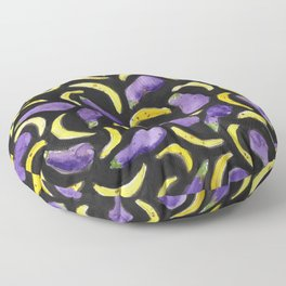 Eggplant & Bananas Floor Pillow