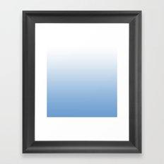 Blueberries In Milk Gradient Framed Art Print