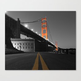 Down the Line to the Golden Gate Bridge and Fort Point Canvas Print