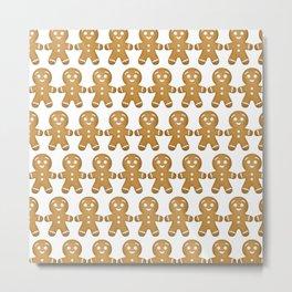 Gingerbread Cookies Pattern Metal Print